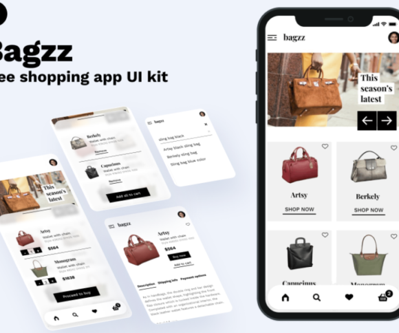 Bagzz – Free Shopping UI Kit for Figma